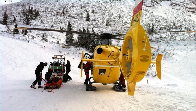 Rettungseinsatz am Hochkar (Bild: APA/ÖAMTC/UNBEKANNT)