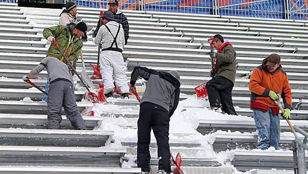 1. Tag der Ski-WM und schon die 1. Verschiebung (Bild: GEPA)