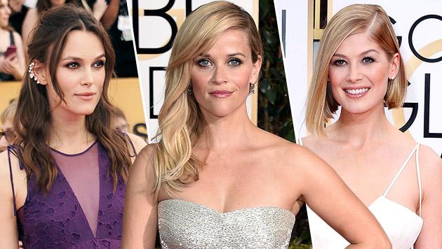 Die Promi-Damen machen sich für die Oscars schön (Bild: Richard Shotwell/Invision/AP, John Shearer/Invision/AP,)