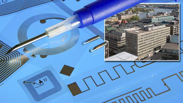 Hier ersetzen Chip-Implantate den Büroschlüssel (Bild: thinkstockphotos.de, facebook.com/epicenterstockholm)