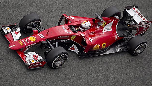 Wieder Schnellster! Vettel glänzt im neuen Ferrari (Bild: AP)