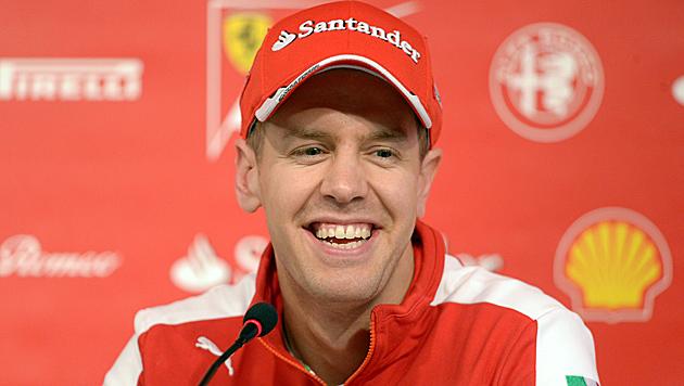 Wieder Schnellster! Vettel glänzt im neuen Ferrari (Bild: APA/EPA/Peter Steffen)
