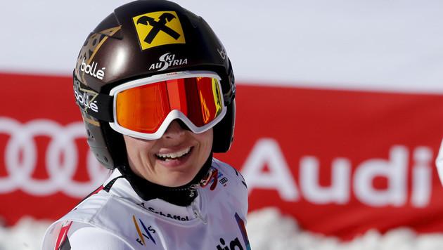 Anna Fenninger holt Gold! WM-Auftakt wie im Traum (Bild: AP)