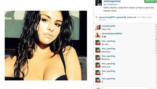 Dieses Bild, auf dem Selena Gomez den Ansatz ihrer Brüste zeigte, veranlasste... (Bild: instagram.com/selenagomez)