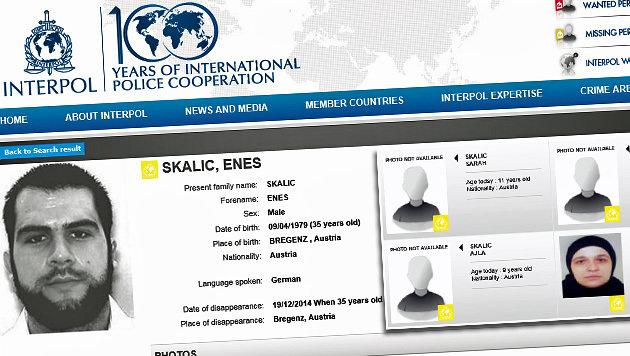 Auf der Webseite von Interpol wurden die Fahndungsinformationen rund um die Familie veröffentlicht. (Bild: Screenshot Interpol)