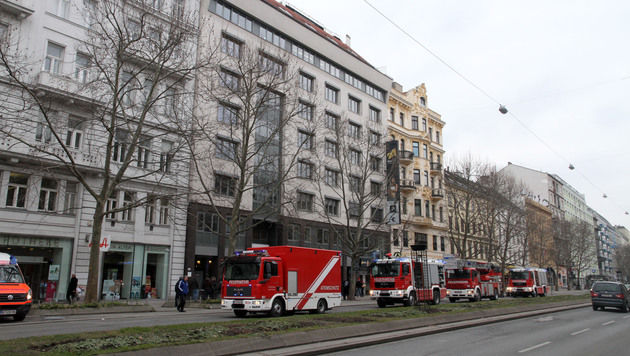 Mit insgesamt 13 Fahrzeugen war die Wiener Feuerwehr vor Ort. (Bild: ANDI SCHIEL)