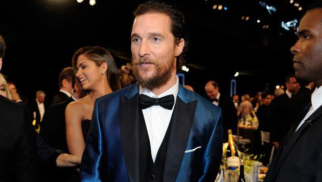 Matthew McConaughey gibt zu, kein Fan von Deodorants, Aftershaves oder Parfüms zu sein. (Bild: AFP)