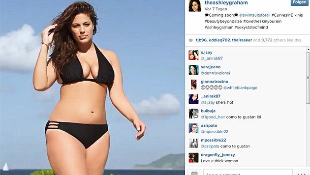 Ashley Graham ist stolz auf ihre Kurven. (Bild: instagram.com/theashleygraham)