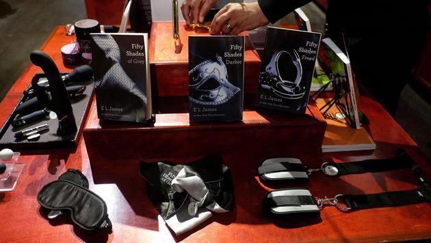 """Auch dieser Laden hat """"Fifty Shades of Grey""""-Accessoires im Angebot. (Bild: AFP)"""