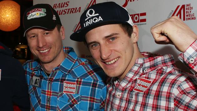 Reichelt und Mayer wollen gemeinsam aufs Stockerl (Bild: GEPA)