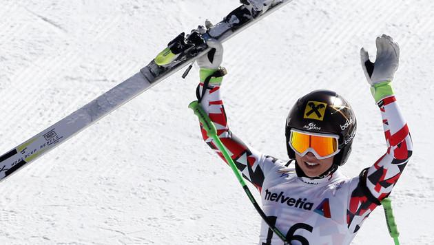 "Fenninger voll motiviert: ""Noch zwei Medaillen!"" (Bild: AP)"