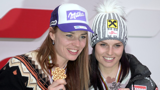 "Fenninger voll motiviert: ""Noch zwei Medaillen!"" (Bild: APA/HANS KLAUS TECHT)"