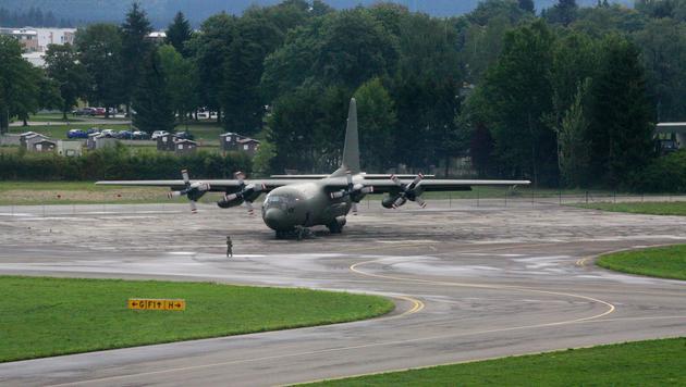 """Eine """"Hercules""""-Maschine des österreichischen Bundesheeres (Bild: Christoph Matzl)"""