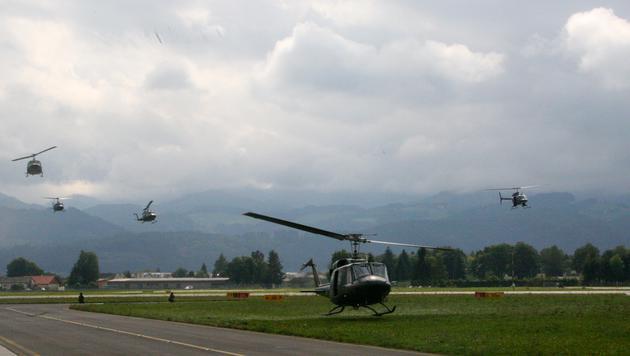Bundesheer-Helikopter bei der Übung (Bild: Christoph Matzl)