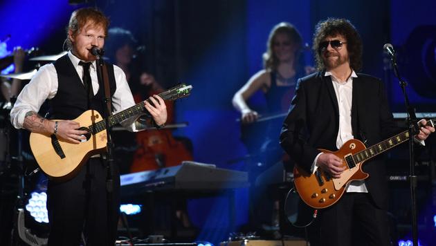 Ed Sheeran und Jeff Lynne (Bild: John Shearer/Invision/AP)