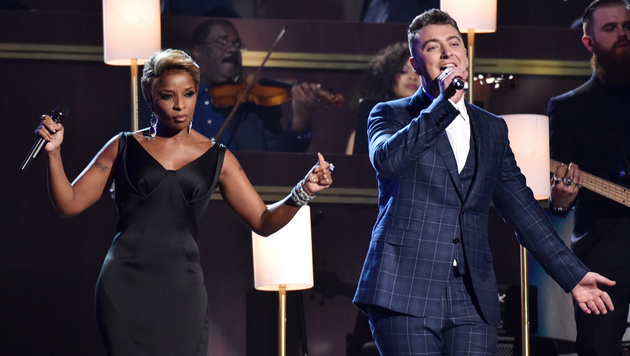 Mary J. Blige und Sam Smith (Bild: John Shearer/Invision/AP)