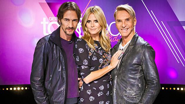 Die 'Germany's next Topmodel'-Juroren Thomas Hayo, Heidi Klum und Wolfgang Joop (Bild: ProSieben)