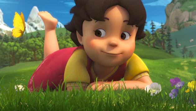 "So sieht die neue ""Heidi"" aus. (Bild: ZDF und 2014 Studio 100 Animation / Heidi Productions Pty. Limit)"