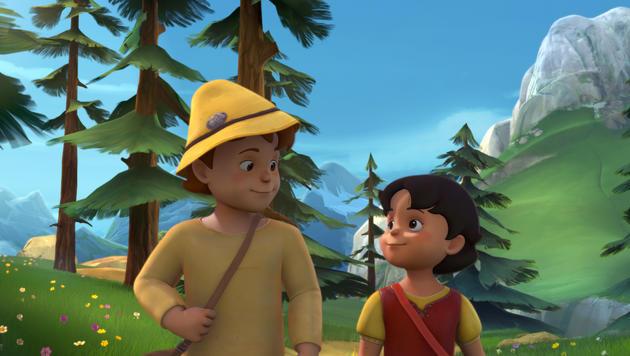 Peter und Heidi schließen Freundschaft (Bild: ZDF und 2014 Studio 100 Animation / Heidi Productions Pty. Limit)