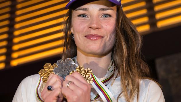 Tina Maze eroberte in Vail drei Medaillen. (Bild: APA/EXPA/ Johann Groder)