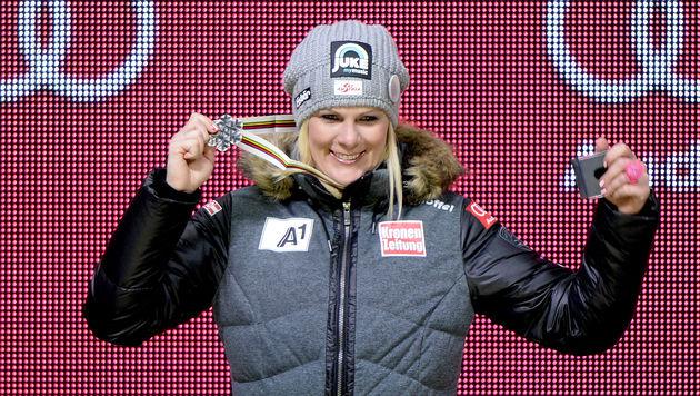 Nicole Hosp holte Silber in der Kombination. (Bild: APA/HANS KLAUS TECHT)