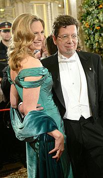 Schriftsteller Franzobel mit Ehefrau Maxi (Bild: APA)
