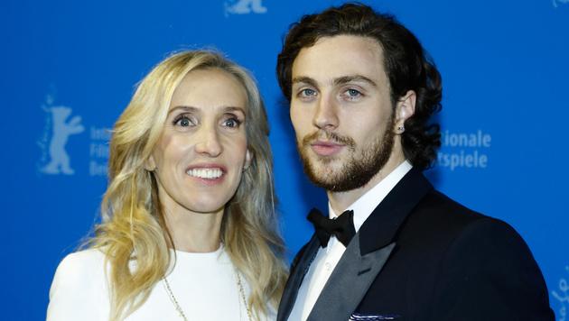 Regisseurin Sam Taylor-Johnson mit Ehemann Aaron Taylor-Johnson (Bild: AP)