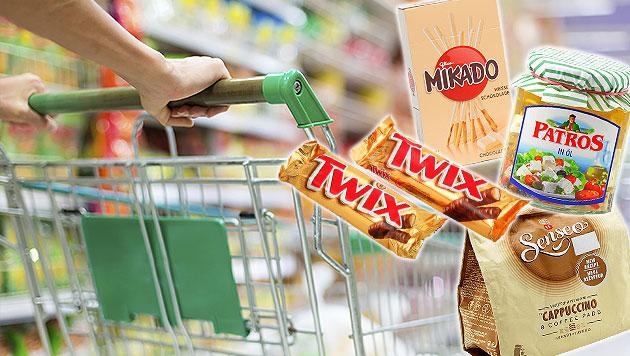 So tricksen die großen Lebensmittelkonzerne (Bild: thinkstockphotos.de, VKI, krone.at-Grafik)