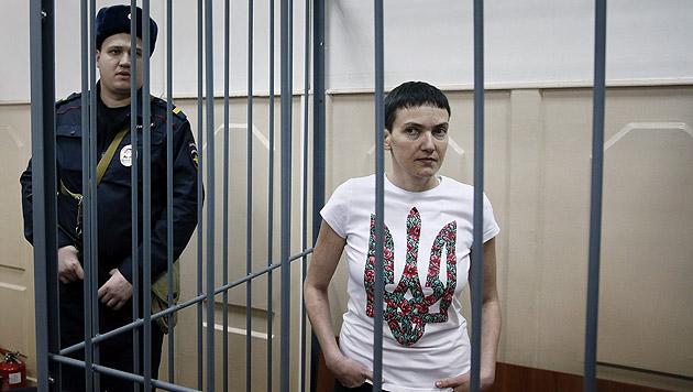 Nadija Sawtschenko soll f�r den Tod zweier Journalisten verantwortlich sein. (Bild: APA/EPA/Yuri Kochetkov)