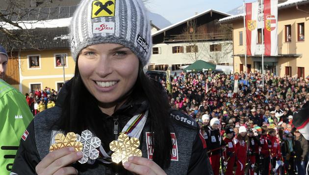 Anna Fenninger: Der große Empfang der Ski-Heldin (Bild: Andreas Tröster)