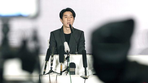 Der Sohn von Kung-Fu-Star Jackie Chan, Jaycee Chan, gab nach seiner Entlassung eine Pressekonferenz. (Bild: APA/EPA/WU HONG)