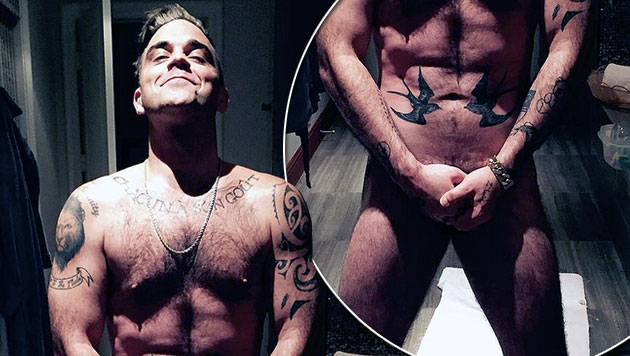 Robbie Williams will mit Nacktfoto Web sprengen (Bild: twitter.com/robbiewilliams)