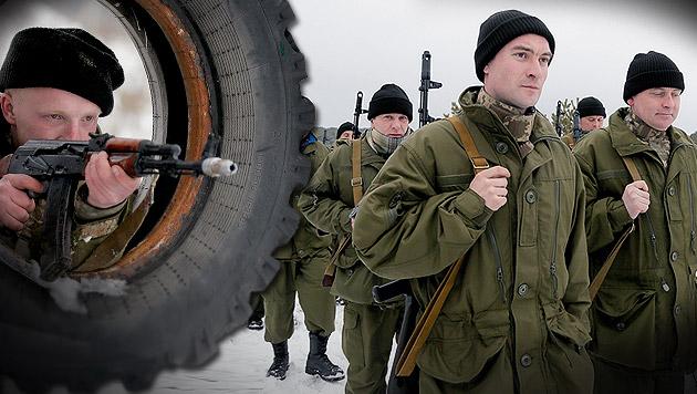 """""""Russland bezahlt uns bis zu 800 Euro die Woche"""" (Bild: AP)"""