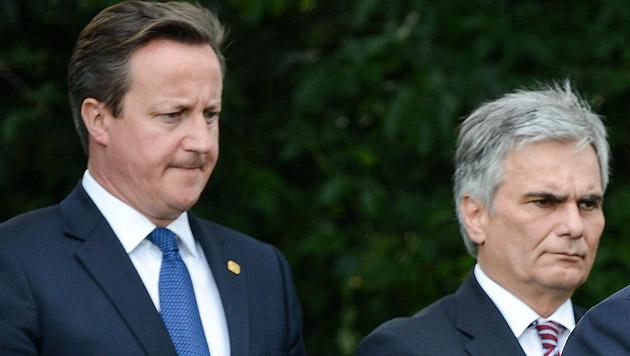 "Auch in GB Ärger über ""Atom-Kanzler"" Cameron (Bild: APA/EPA/STEPHANIE LECOCQ)"