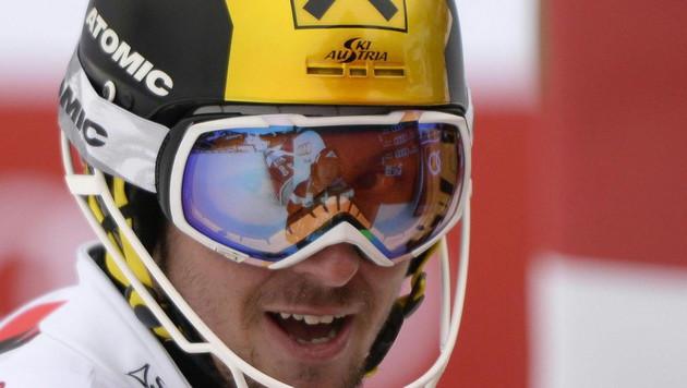 Marcel Hirscher fädelte ein & vergab drittes Gold (Bild: APA/EPA/HANS KLAUS TECHT)