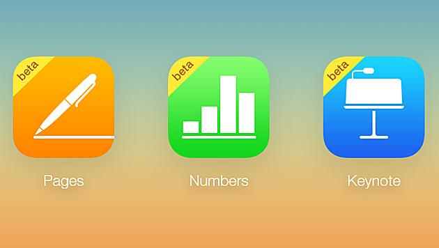 Apples Bürosoftware iWork jetzt auch im Browser (Bild: beta.icloud.com)