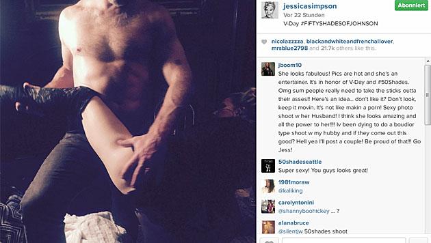 Diese heißen Bilder teilte Jessica Simpson mit ihren Fans. (Bild: instagram.com/jessicasimpson)