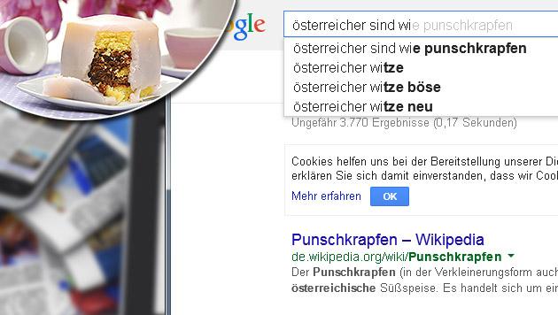 Autocomplete: Diese Vorurteile hat Google über uns (Bild: google.at, thinkstockphotos.de, krone.at-Grafik)