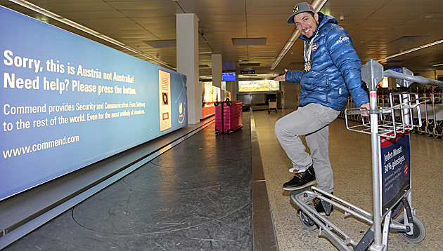 Hirscher ist wieder daheim, das Gepäck dafür weg! (Bild: Andreas Tröster)