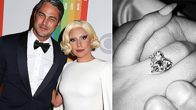 Lady Gaga und Taylor Kinney: Verlobung am Valentinstag (Bild: Greg Allen/Invision/AP, instagram.com/ladygaga)
