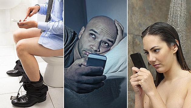 So oft greifen wir jeden Tag zum Smartphone (Bild: thinkstockphotos.de)
