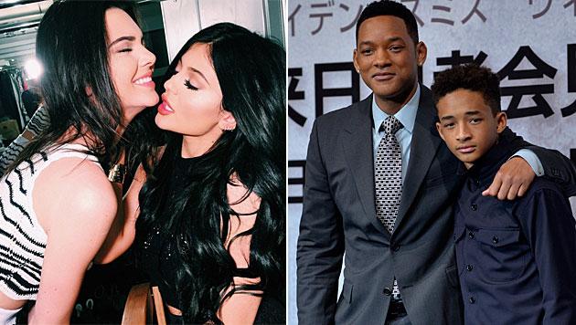 Will Smith will nicht, dass sich seine Kinder mit Kylie und Kendall Jenner abgeben. (Bild: instagram.com/kyliejenner, ROBICHON/EPA/picturedesk.com)