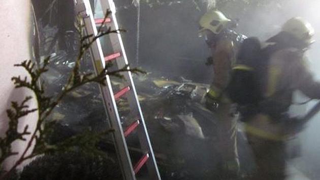 Florianis löschten die Flammen. (Bild: Berufsfeuerwehr Klagenfurt)
