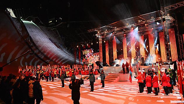 50. Nordische Ski-WM in Falun feierlich eröffnet (Bild: AP)
