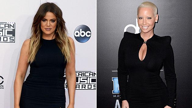 Khloe Kardashian und Amber Rose liegen derzeit im Clinch auf Twitter. (Bild: APA/EPA/PAUL BUCK)