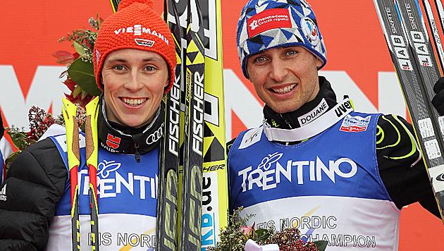 Eric Frenzel und Jason Lamy-Chappuis (Bild: GEPA)