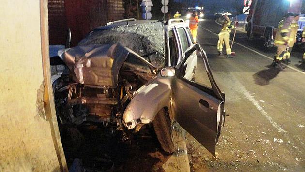 Das Auto wurde beim Aufprall völlig zerstört. (Bild: FF Kaprun)