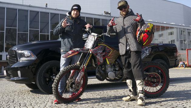 MoD-Veranstalter Georg Fechter (li.) und Alastair Sayer aus Südafrika (Bild: mastersofdirt.com)