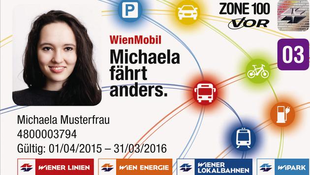 So soll die neue WienMobil-Karte aussehen. (Bild: Wiener Linien)