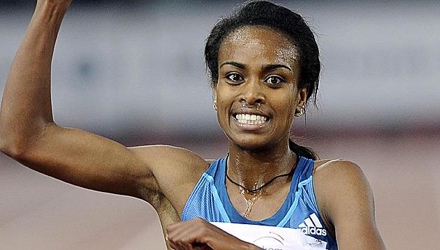 5.000-m-Hallen-Weltrekord von Äthiopierin Dibaba (Bild: APA/EPA/CLAUDIO ONORATI)